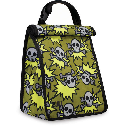 Built Kids Boys Lunch Sack Skeleton Army Olive