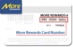 More Rewards card